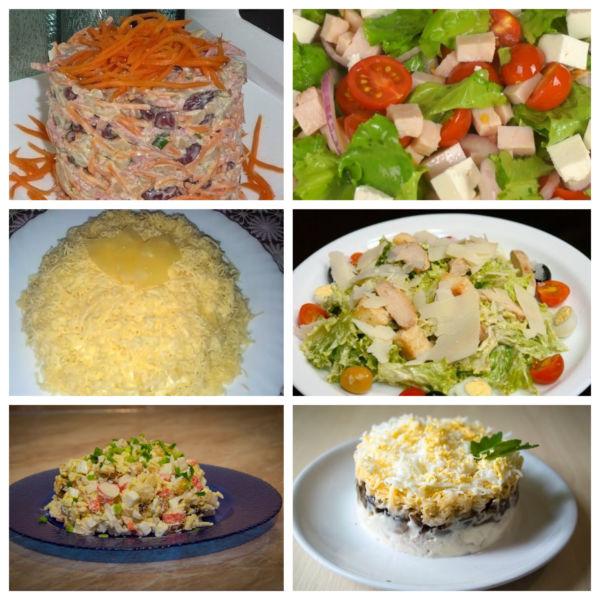 Простые рецепты известных салатов