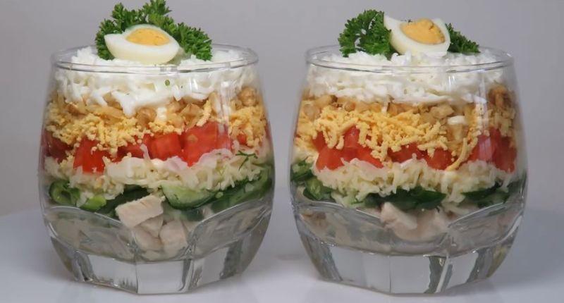 Обычные салаты и простые